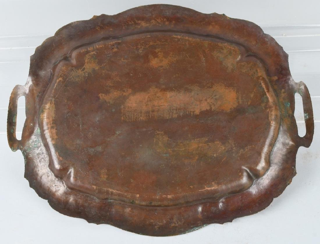 ARTS & CRAFTS COPPER SERVING TRAY, POHLMANN - 4
