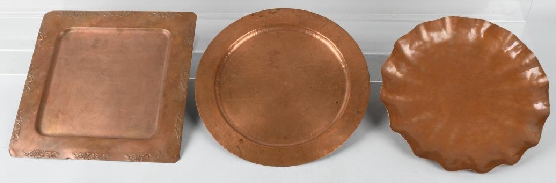 3-COPPERWARE HAMMERED PLATES, AVON COPPER