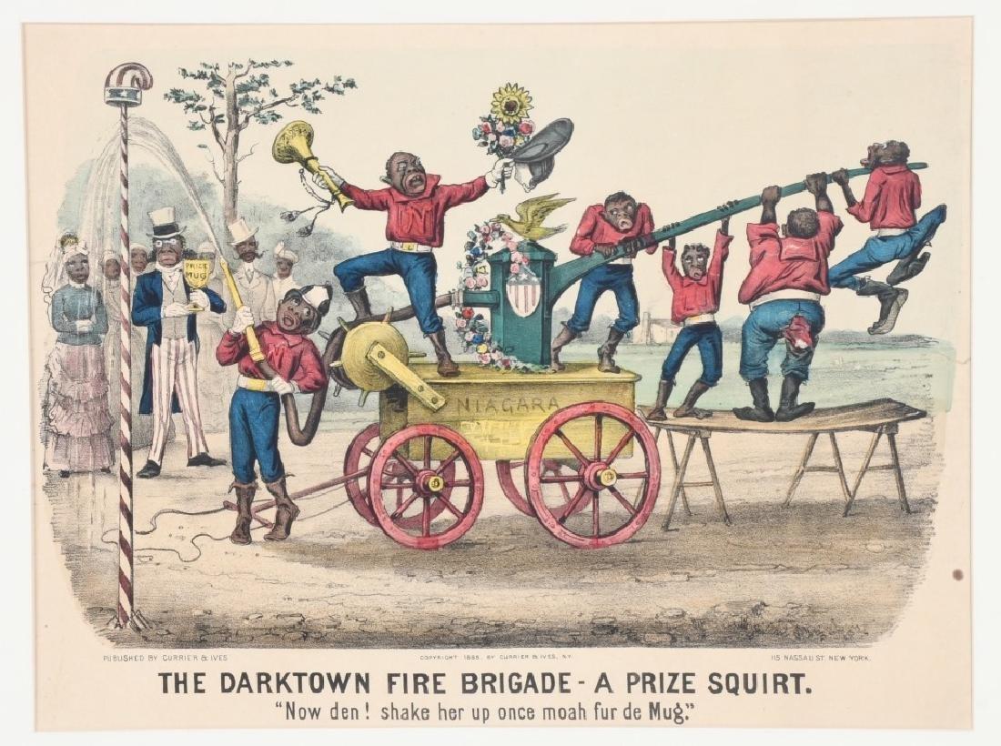 1885 CURRIER & IVES DARKTOWN FIRE BRIGADE - 2