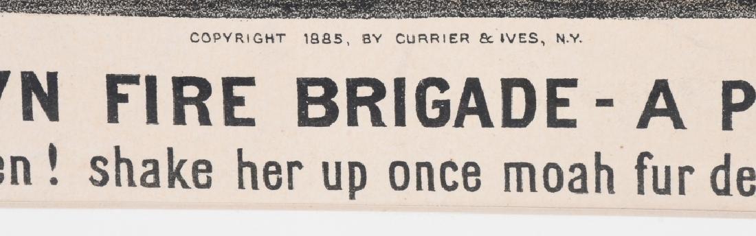 1885 CURRIER & IVES DARKTOWN FIRE BRIGADE - 4