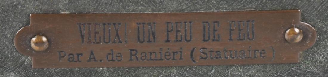 ANTIQUE METAL FIGURAL LAMP, PAR A. de RANIERI - 4