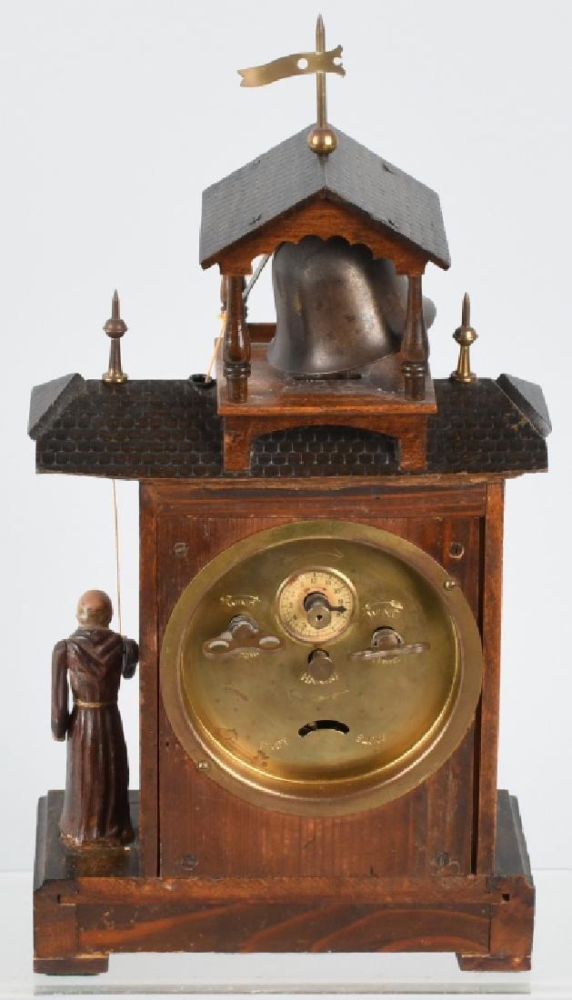 HAMBURG GERMANY ANIMATED MONK RINGNG BELL CLOCK - 4
