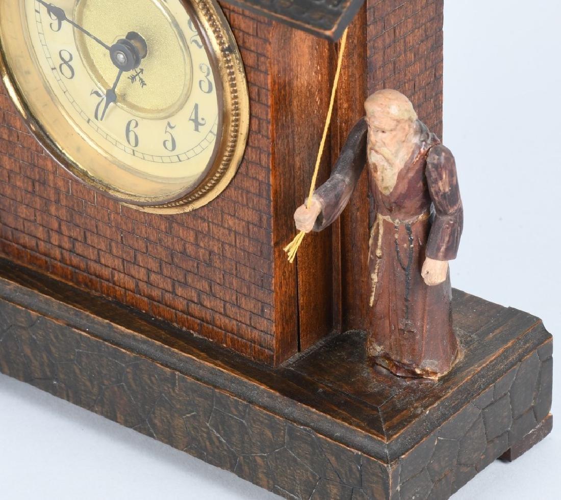 HAMBURG GERMANY ANIMATED MONK RINGNG BELL CLOCK - 6