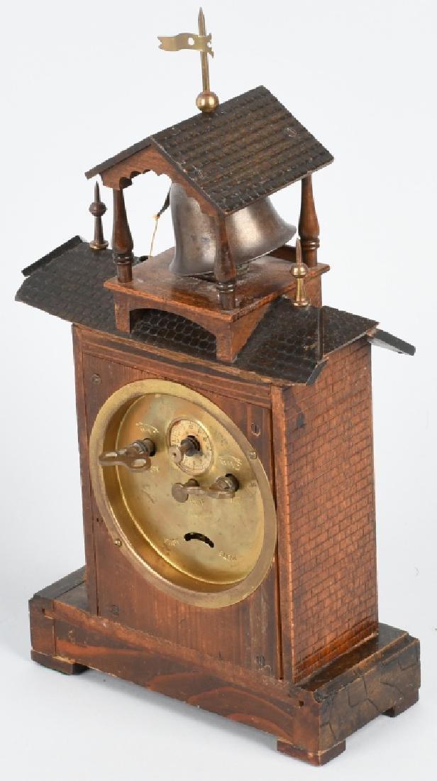 HAMBURG GERMANY ANIMATED MONK RINGNG BELL CLOCK - 7