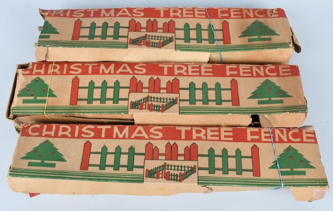 LARGE LOT of VINTAGE CHRISTMAS TREE FENCE, BOXED - 2