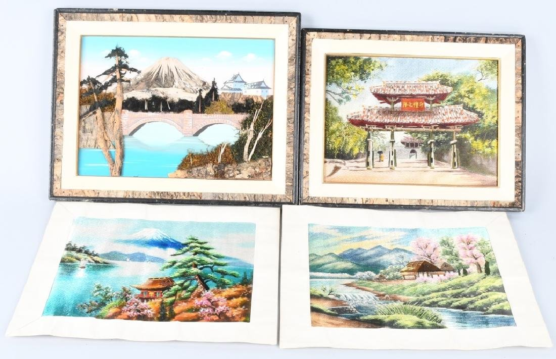 4-JAPANESE PICTURES, EMBROIDERED SILK and MORE