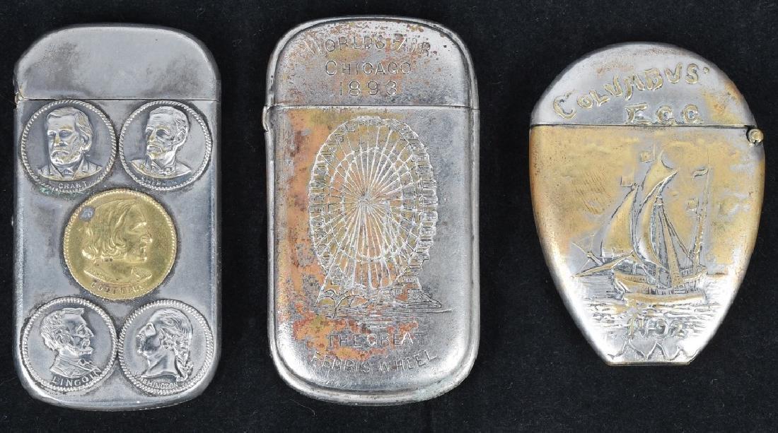 3-1893 COLUMBIAN EXPOSITION MATCH SAFES