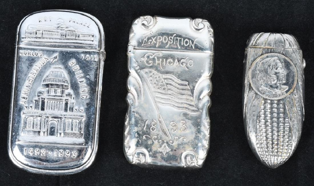 3-1893 COLUMBIAN EXPOSITION MATCH SAFES