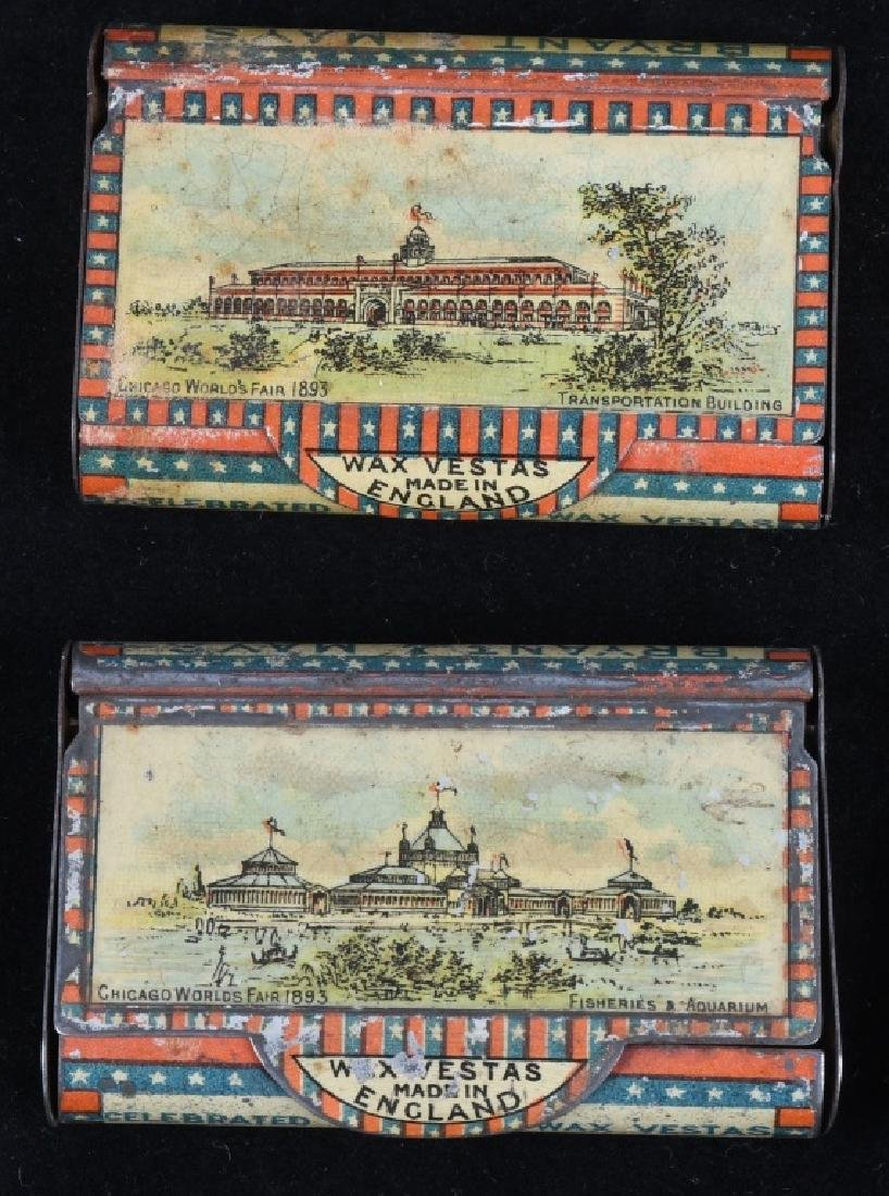4-1893 COLUMBIAN EXPOSITION MATCH SAFES - 2
