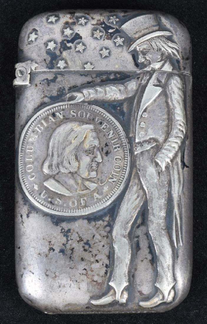 1893 COLUMBIAN EXPOSITION UNCLE SAM MATCH SAFE