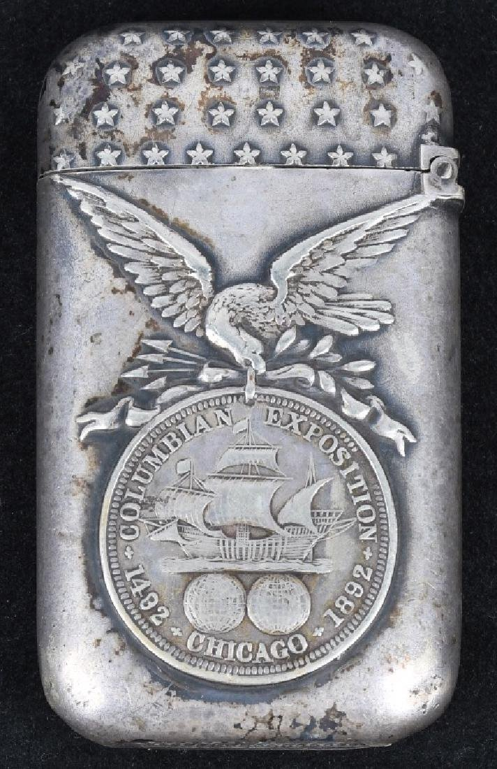 1893 COLUMBIAN EXPOSITION UNCLE SAM MATCH SAFE - 2