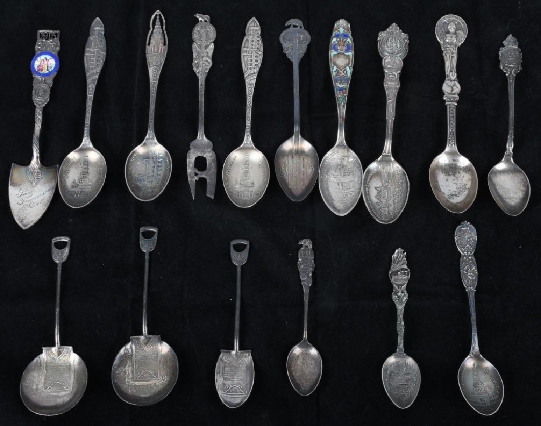 16-STERLING SILVER WORLD'S FAIR & EXPO SPOONS
