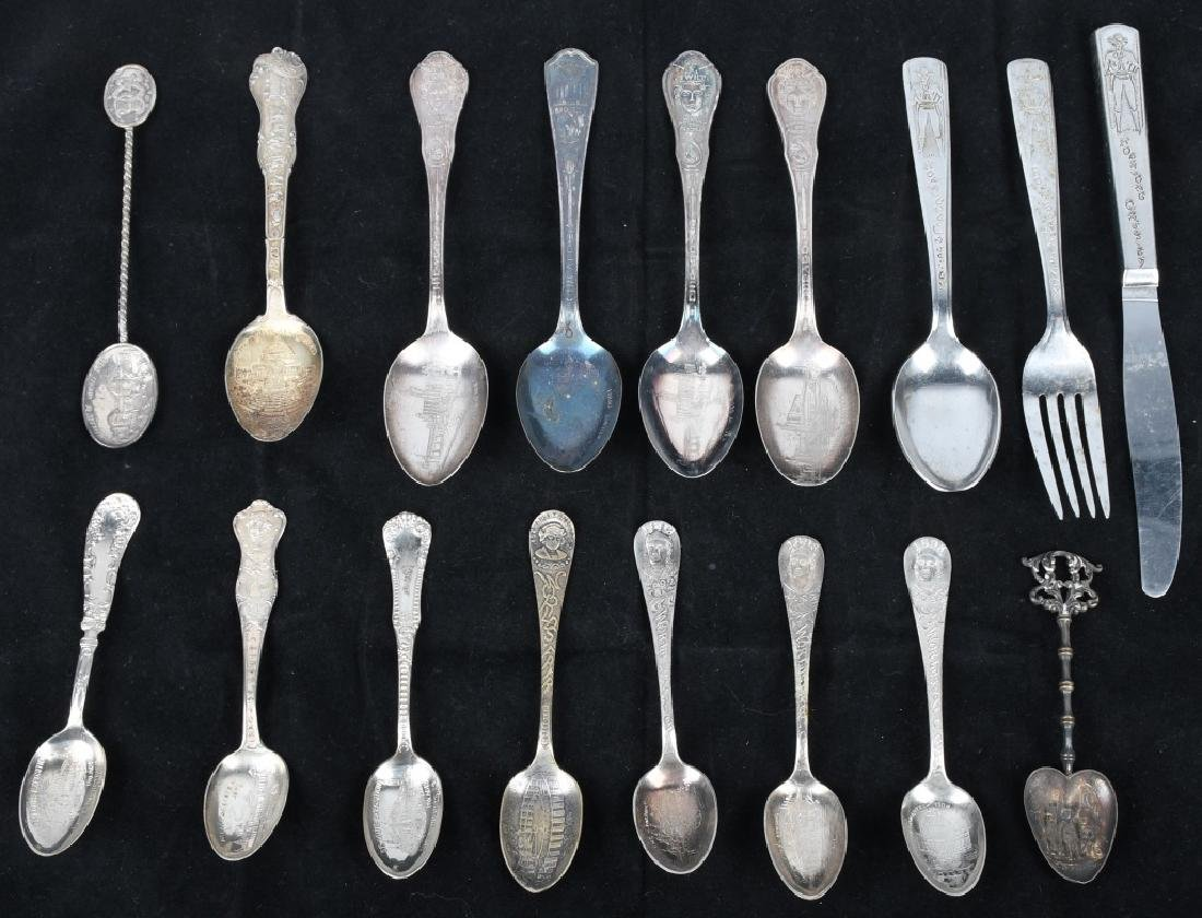 14- WORLD'S FAIR & EXPO SPOONS and MORE