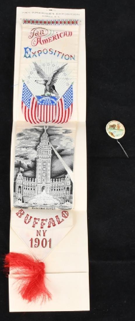 1901 PAN-AM EXPOSITION RIBBON & BUTTON