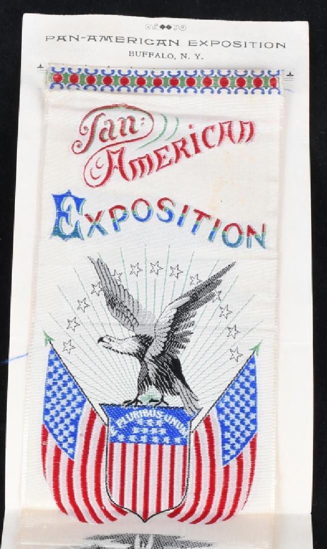 1901 PAN-AM EXPOSITION RIBBON & BUTTON - 2