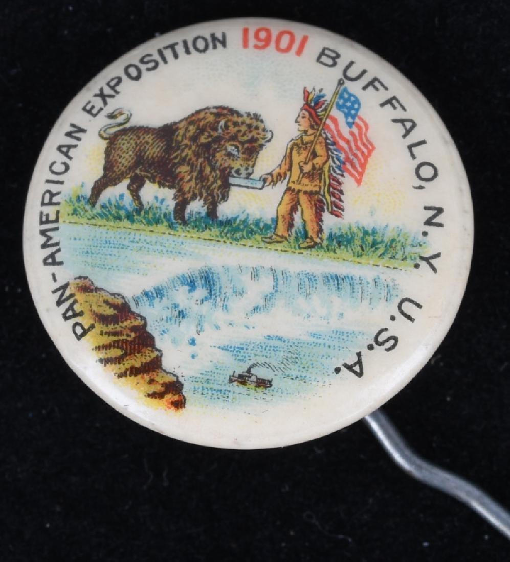 1901 PAN-AM EXPOSITION RIBBON & BUTTON - 4