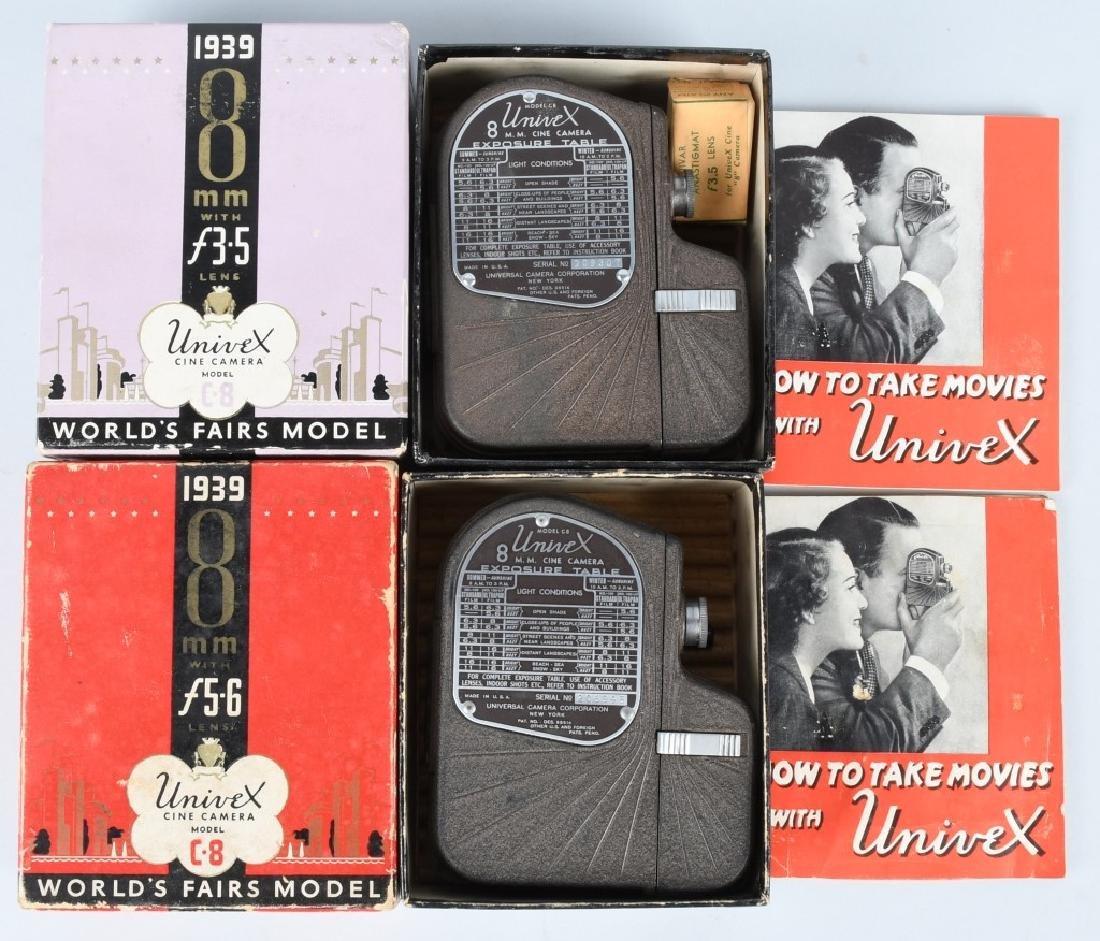 2-1939 NY WORLD'S FAIR 8mm CAMERAS, BOXED