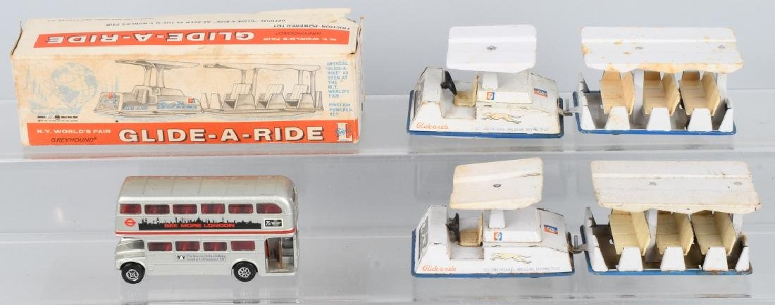 2-NY WORLD'S FAIR GLIDE-A-RIDE TOYS, ONE BOXED