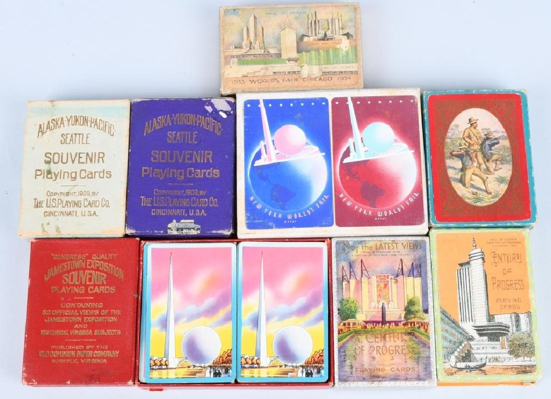 9 - WORLDS FAIR & EXPOSITION PLAYING CARDS