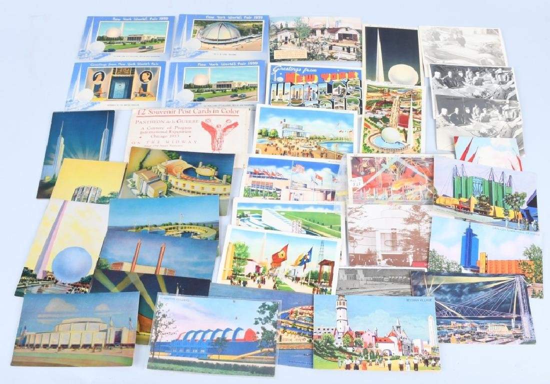LARGE LOT of WORLD'S FAIR POSTCARDS & MORE