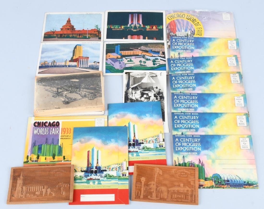 LARGE LOT of WORLD'S FAIR POSTCARDS