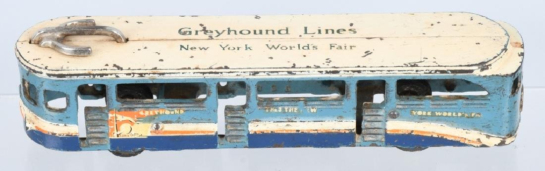 ARCADE 1939 CAST IRON NY WORLD'S FAIR TOY BUS