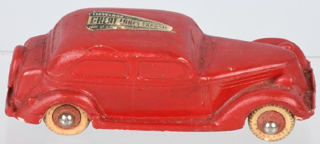 1936 CLEVELAND EXPO TOY RUBBER FORD SEDAN