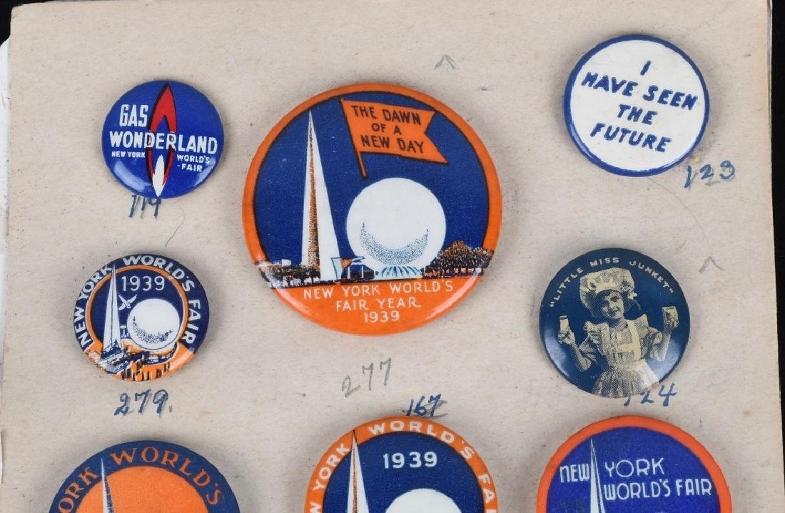 1939 NEW YORK WORLD'S FAIR PIN BACK BUTTON LOT - 2