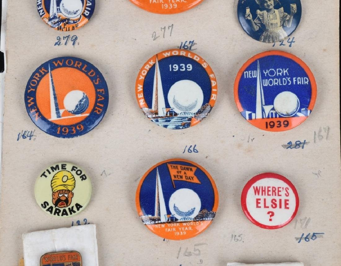1939 NEW YORK WORLD'S FAIR PIN BACK BUTTON LOT - 3