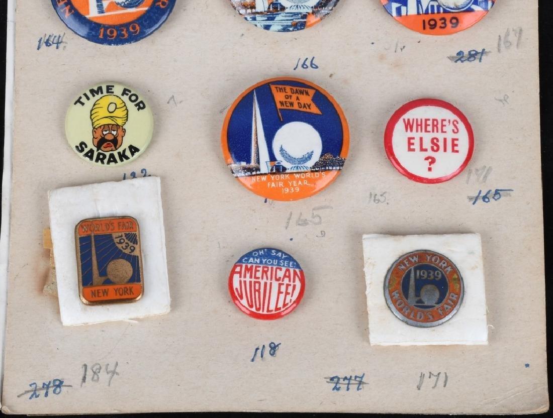 1939 NEW YORK WORLD'S FAIR PIN BACK BUTTON LOT - 4