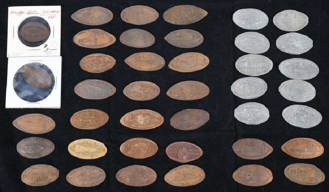 LARGE LOT of WORLD'S FAIR ELONGATED COINS