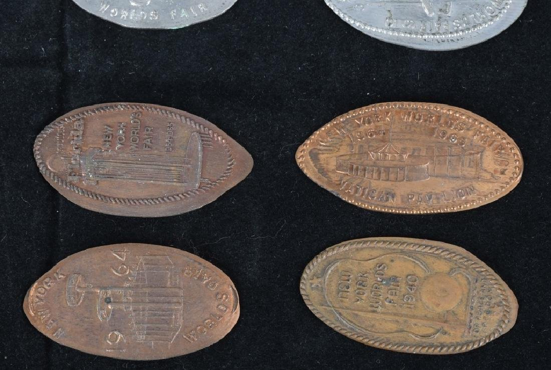 LARGE LOT of WORLD'S FAIR ELONGATED COINS - 3