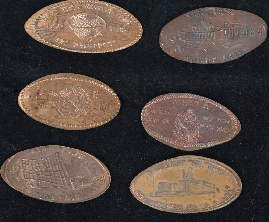 LARGE LOT of WORLD'S FAIR ELONGATED COINS - 4