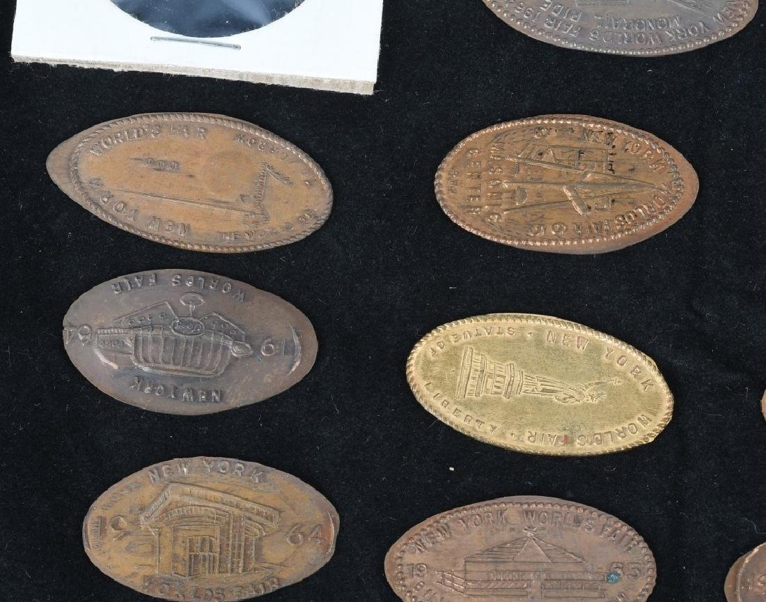 LARGE LOT of WORLD'S FAIR ELONGATED COINS - 5
