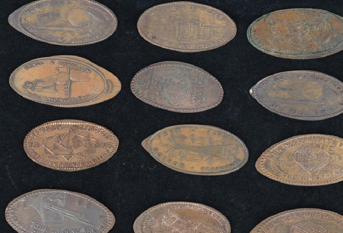 LARGE LOT of WORLD'S FAIR ELONGATED COINS - 6