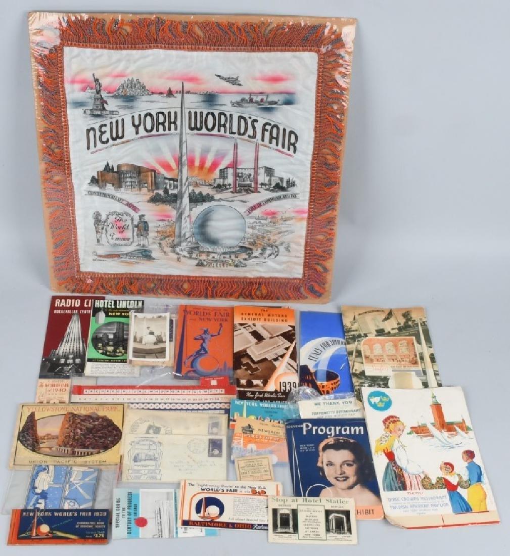 1939 NEW YORK WORLD'S FAIR EPHEMERA & MORE