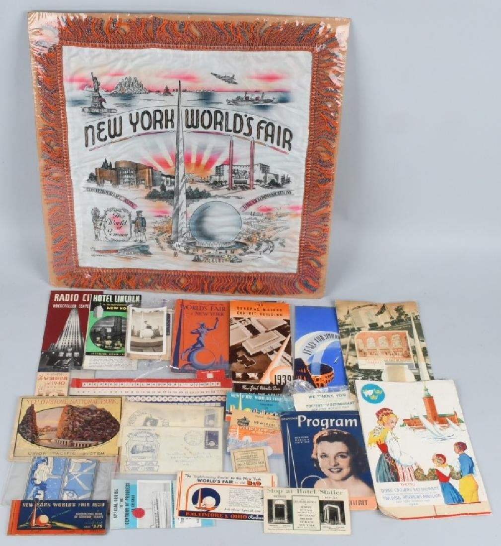 1939 NEW YORK WORLD'S FAIR EPHEMERA & MORE