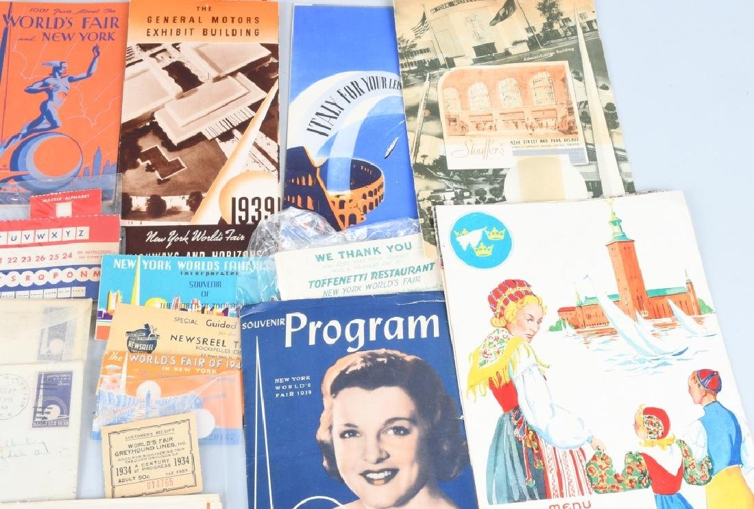 1939 NEW YORK WORLD'S FAIR EPHEMERA & MORE - 4