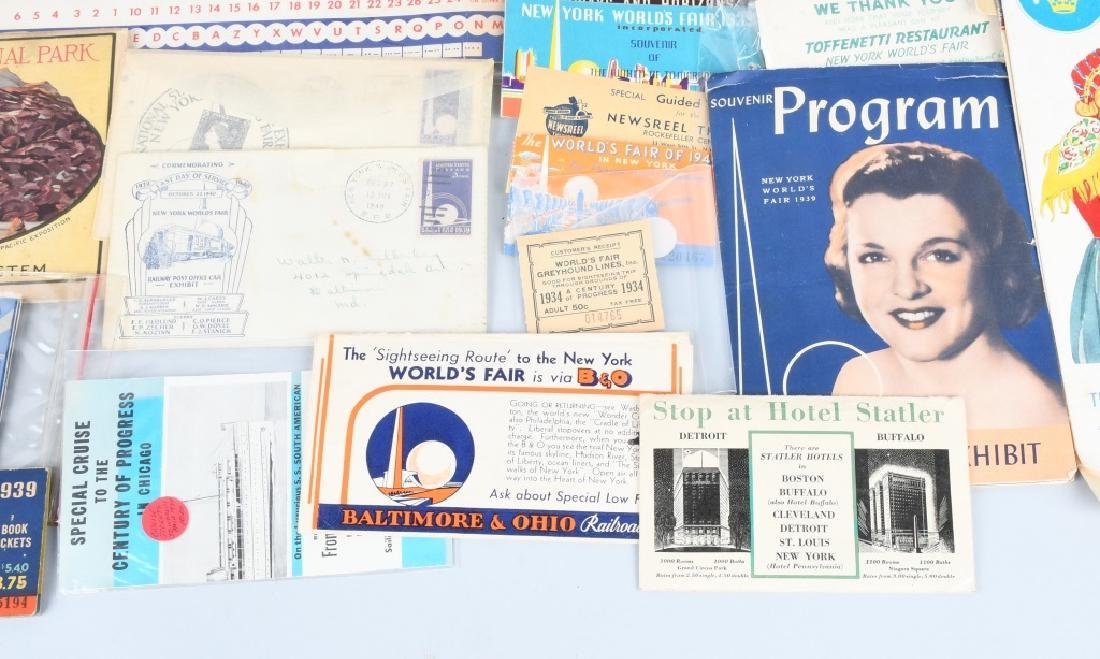 1939 NEW YORK WORLD'S FAIR EPHEMERA & MORE - 6