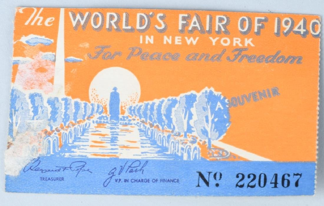 1939 NEW YORK WORLD'S FAIR EPHEMERA & MORE - 9