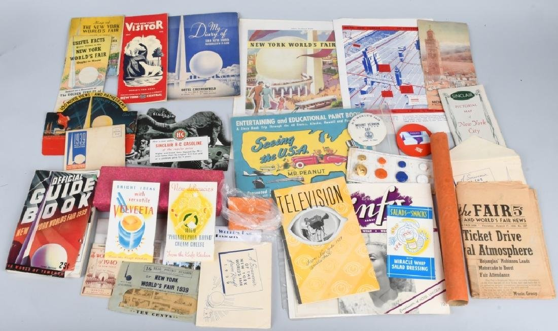 1939 NEW YORK WORLD'S FAIR EPHEMERA LOT