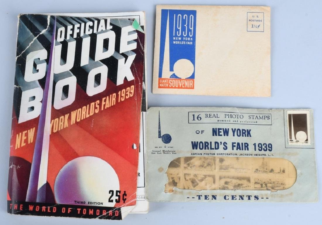 1939 NEW YORK WORLD'S FAIR EPHEMERA LOT - 3