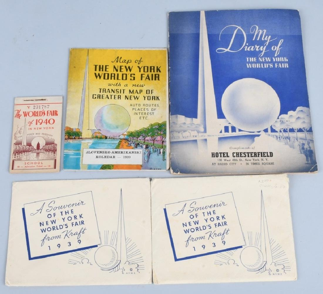 1939 NEW YORK WORLD'S FAIR EPHEMERA LOT - 6