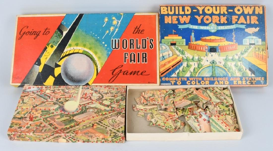 3-1939 NEW YORK WORLD'S FAIR GAMES & PUZZLES