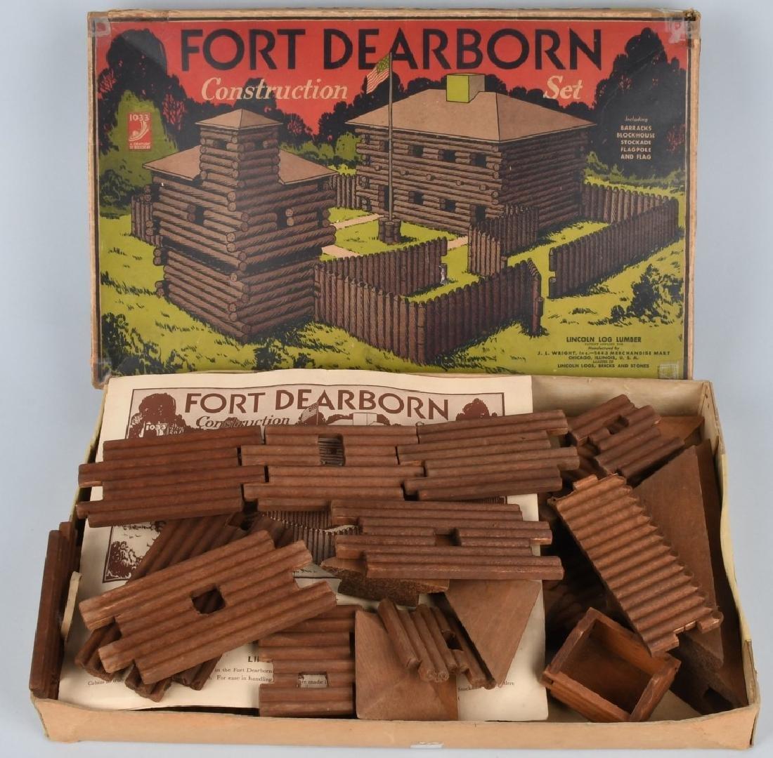1933 CHICAGO WORLD'S FAIR FORT DEARBORN TOY SET