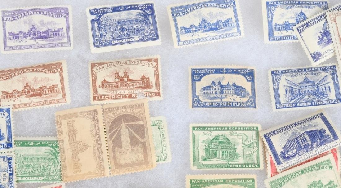 LARGE LOT of 1901 PAN-AM STAMPS and MORE - 4