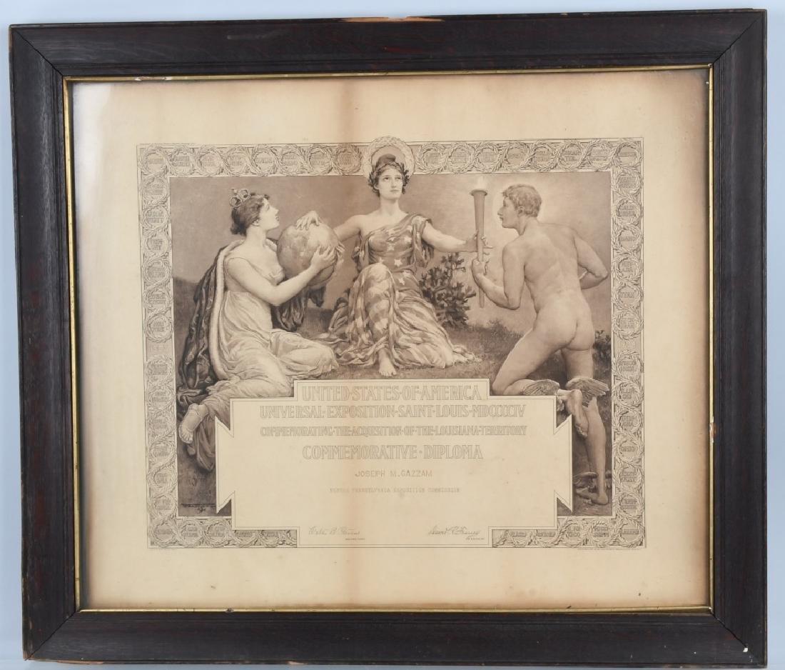 1904 ST LOUIS WORLD'S FAIR COMMERATIVE DIPLOMA