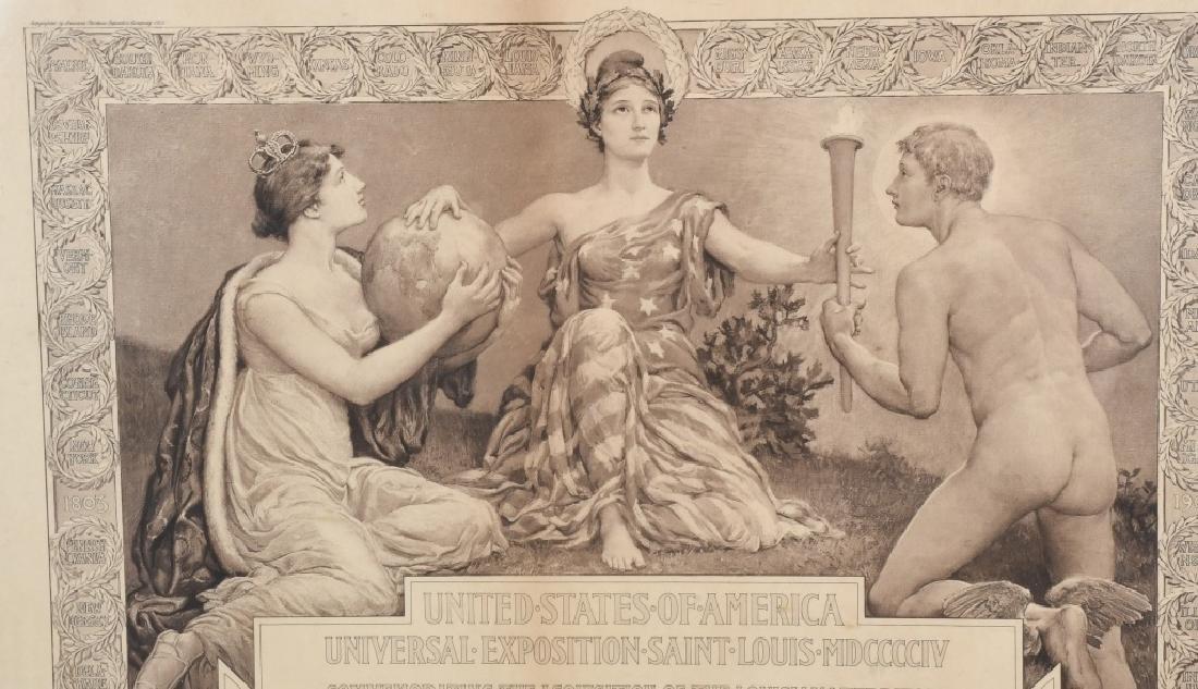 1904 ST LOUIS WORLD'S FAIR COMMERATIVE DIPLOMA - 2