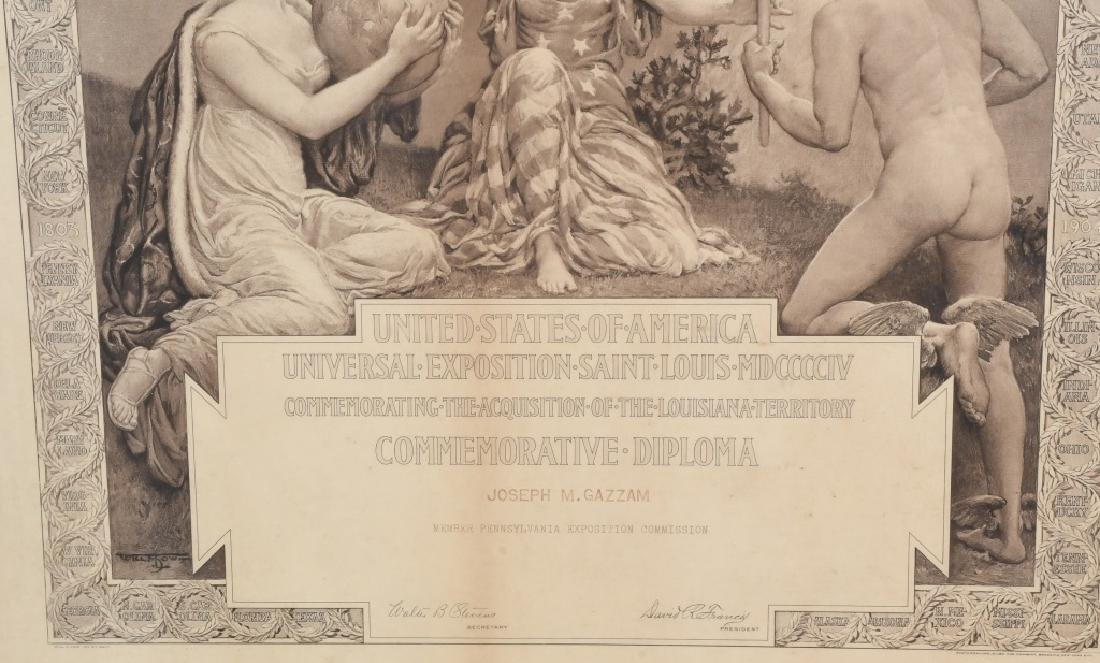 1904 ST LOUIS WORLD'S FAIR COMMERATIVE DIPLOMA - 3