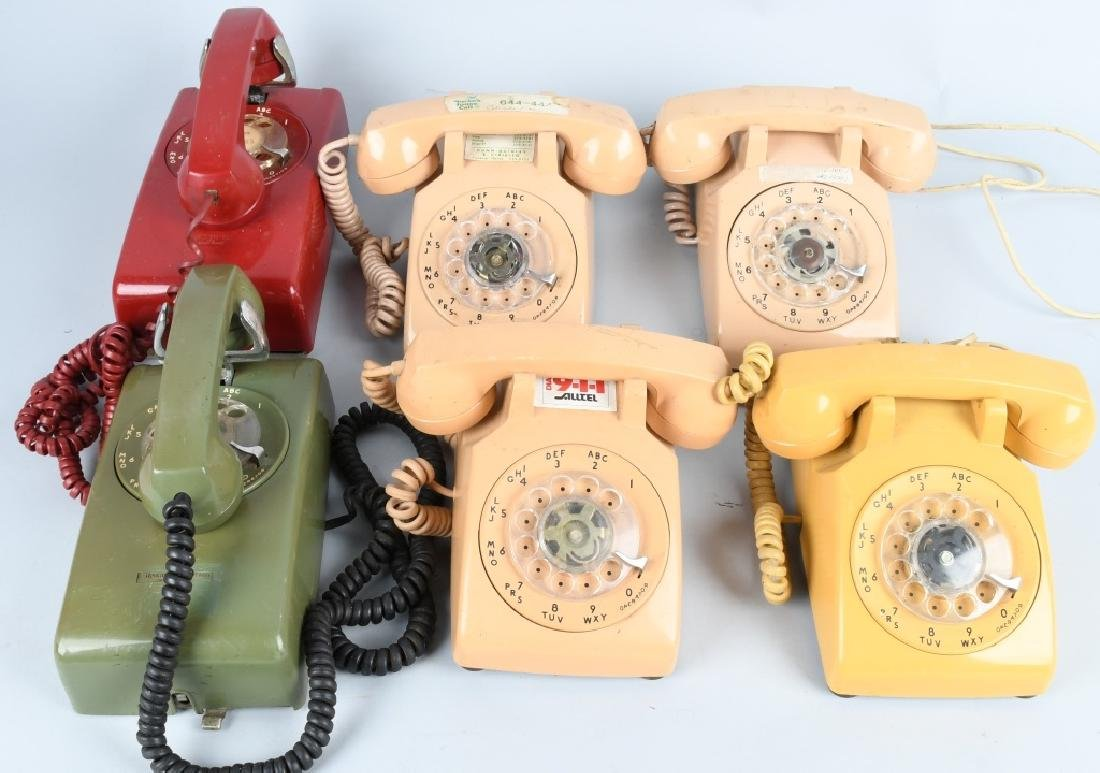 6- VINTAGE DIAL TELEPHONES Nice Colors